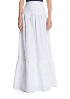 Calvin Klein High-Waist Cotton Maxi Prairie Skirt