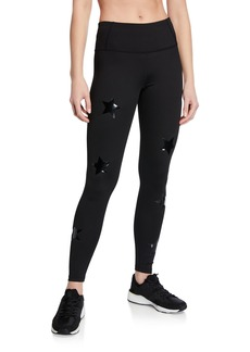 Calvin Klein High Waist Star Print Ankle Leggings