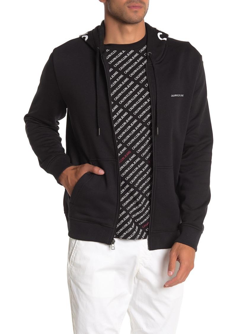 Calvin Klein Hood Logo Full Zip Hoodie