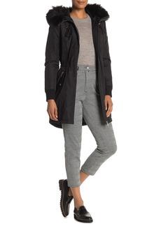 Calvin Klein Hooded Faux Fur Raincoat