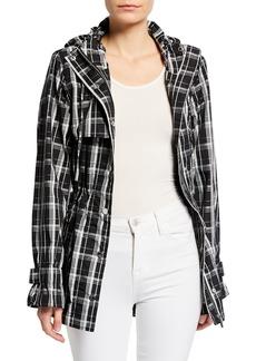 Calvin Klein Hooded Plaid Jacket