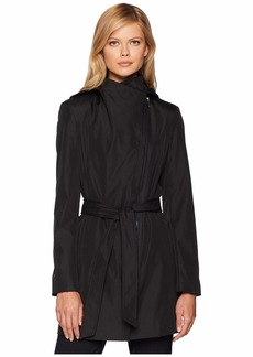Calvin Klein Hooded Raincoat with Belt
