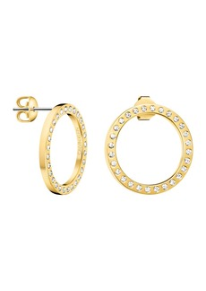 Calvin Klein Hook Swarovski Crystal Hoop Drop Earrings