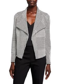 Calvin Klein Houndstooth Flyaway Jacket