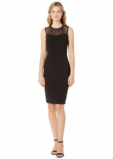 Calvin Klein Illusion Neck Sheath Dress