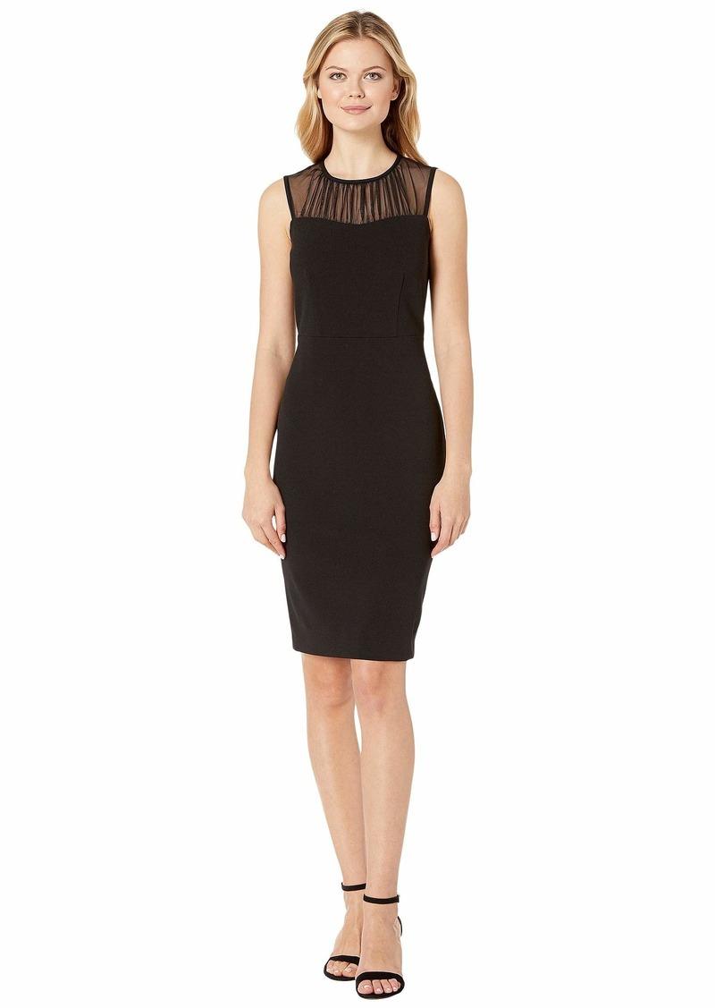 Calvin Klein Illusion Neck Sheath Dress