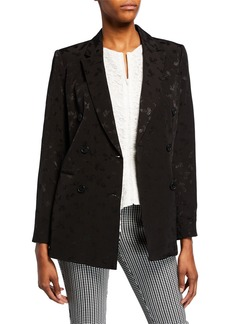Calvin Klein Jacquard Double Breasted Blazer