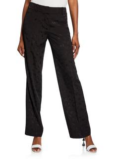 Calvin Klein Jacquard Slim-Leg Pants
