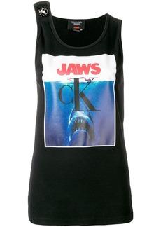 Calvin Klein Jaws embellished logo tank