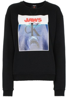 Calvin Klein jaws logo cotton sweatshirt