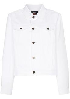 Calvin Klein Jaws print collared denim jacket