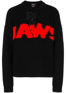 Calvin Klein Jaws print knitted relaxed fit jumper