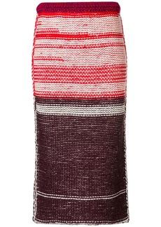 Calvin Klein knitted midi skirt