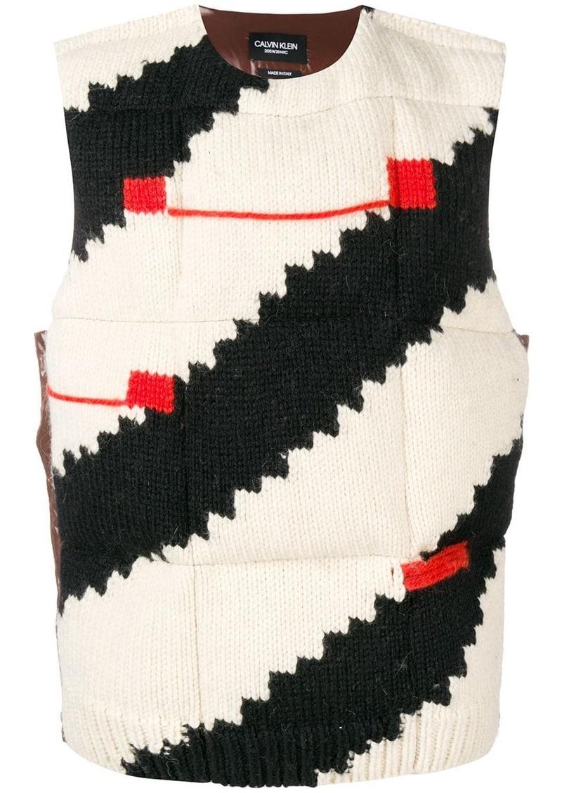 Calvin Klein knitted padded gilet