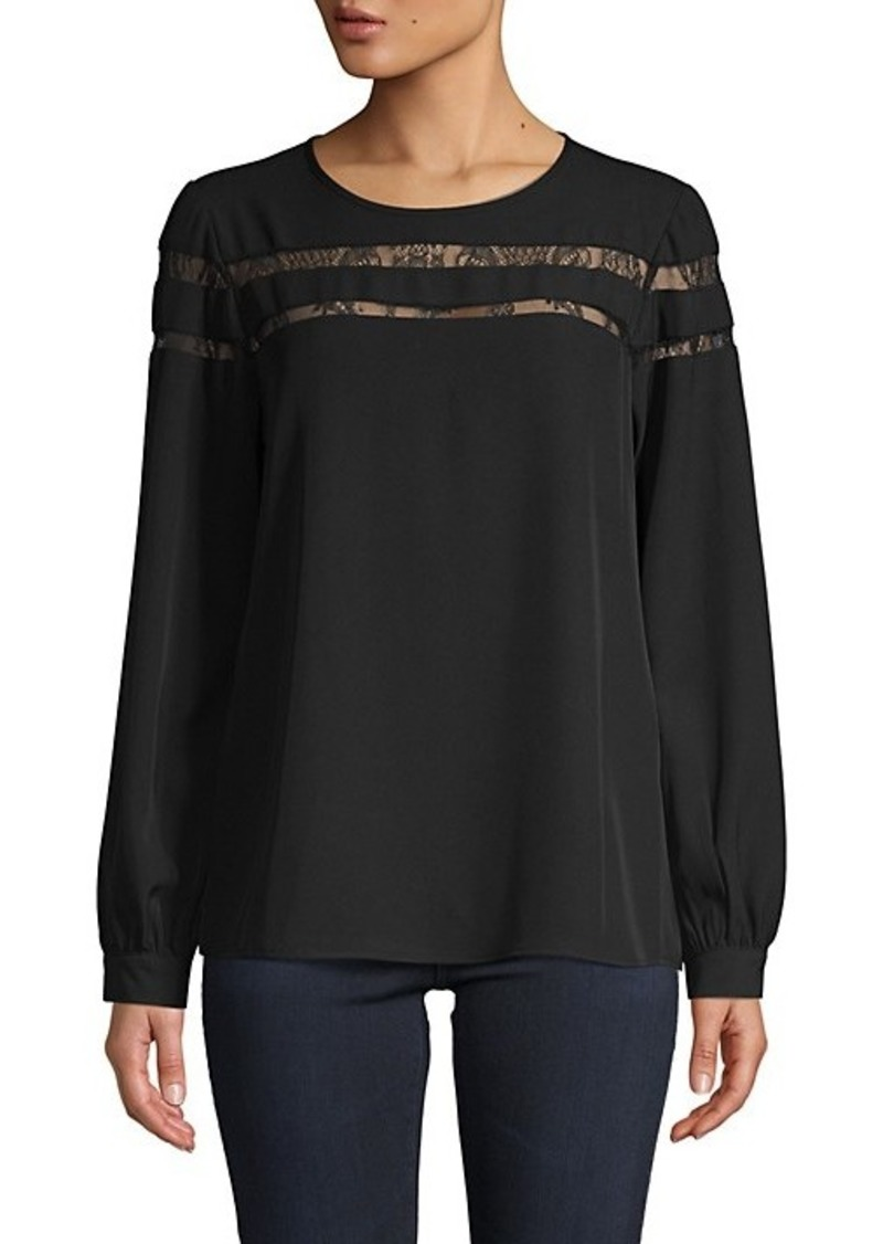 Calvin Klein Lace Long-Sleeve Top