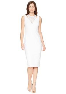 Calvin Klein Lace Sheath Dress with Shoulder Cut Outs CD8L19FT