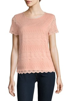 Lace Short-Sleeve Top