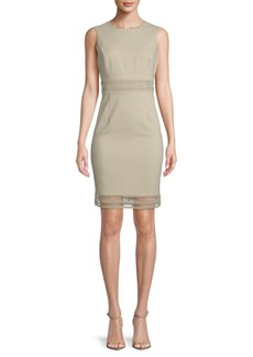 Calvin Klein Lace-Trimmed Sleeveless Dress