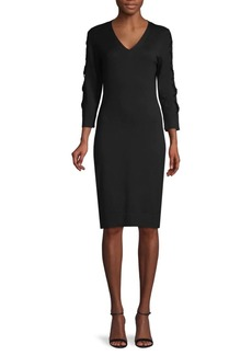 Calvin Klein Laced Long-Sleeve Sweater Dress