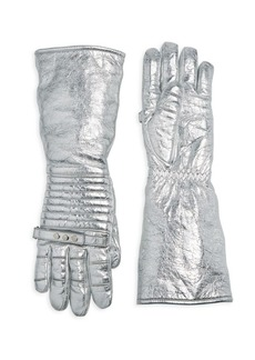 Calvin Klein Laminated Leather Gloves