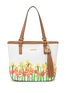 Calvin Klein Large Floral and Logo Embossed Tote Bag
