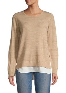 Calvin Klein Layered Crewneck Knit Sweater