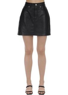 Calvin Klein Leather Mini Skirt