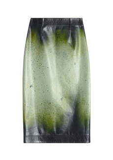 Calvin Klein Leather Pencil Skirt