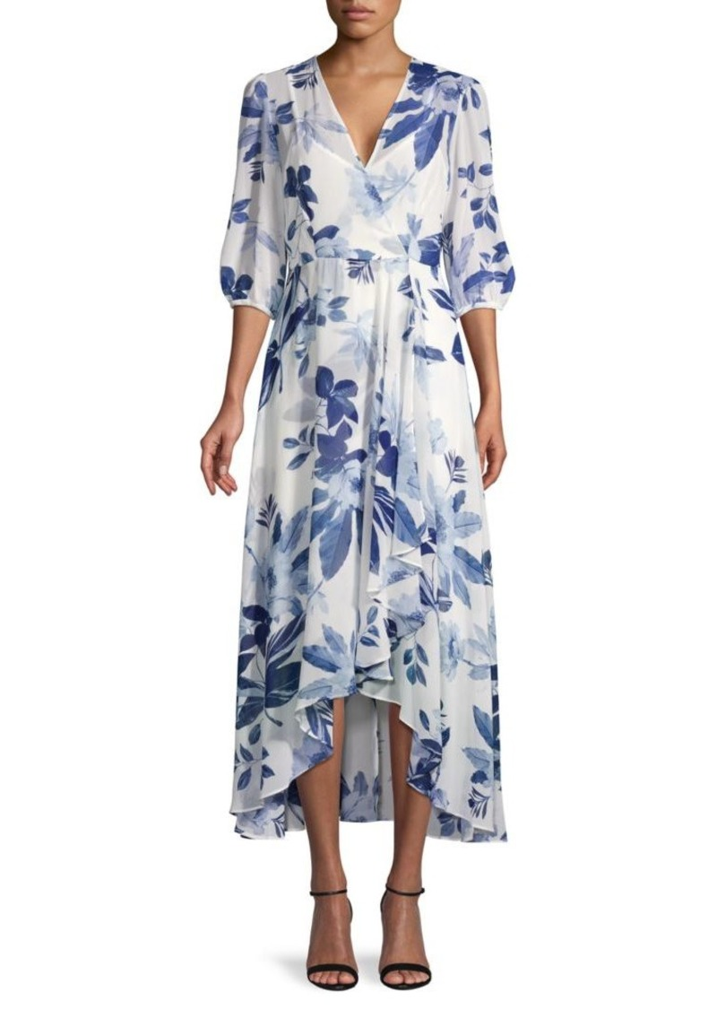 Calvin Klein Leaves Chiffon Midi Dress