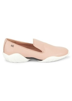 Calvin Klein Lee Leather Slip-On Sneakers