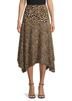 Calvin Klein Buttoned Pencil Skirt