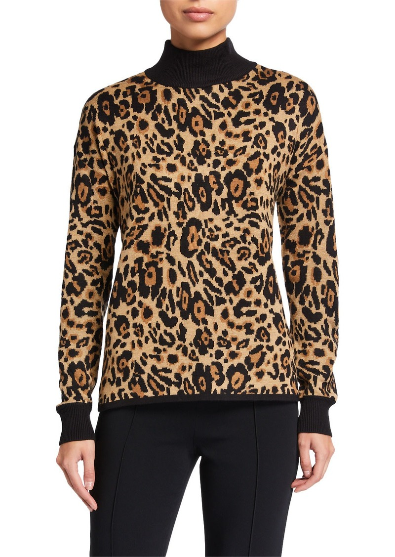 Calvin Klein Leopard Turtleneck Sweater