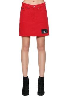 Calvin Klein Light Cotton Denim Skirt