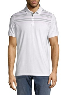Calvin Klein Liquid Touch Striped Cotton Polo