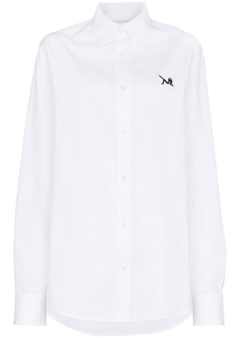 Calvin Klein logo button down shirt
