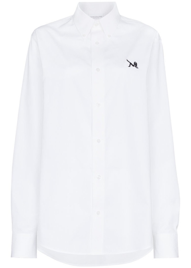 Calvin Klein embroidered log shirt