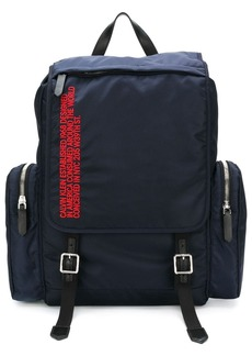 Calvin Klein logo cargo backpack