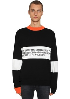 Calvin Klein Logo Cotton Intarsia Sweater