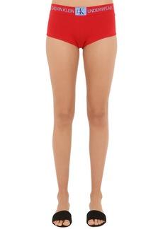 Calvin Klein Logo Cotton Jersey Boy Shorts