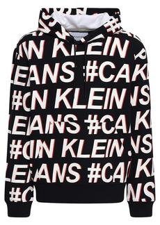 Calvin Klein Logo Cotton Jersey Sweatshirt Hoodie