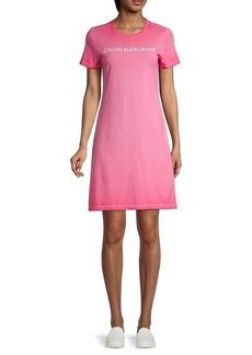 Calvin Klein Logo Cotton T-Shirt Dress