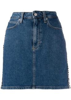 Calvin Klein logo denim skirt