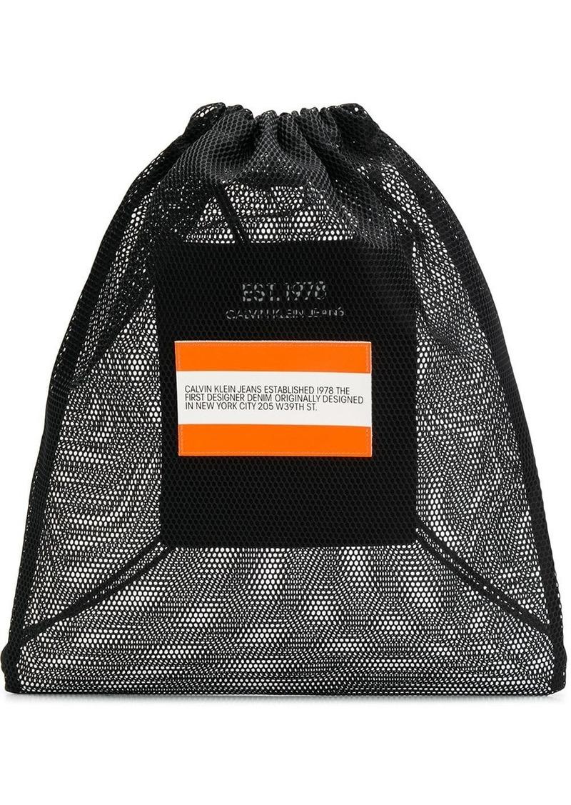 Calvin Klein logo drawstring backpack