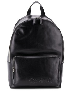 Calvin Klein logo embossed backpack