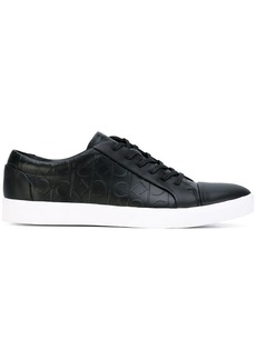Calvin Klein logo embossed lace-up sneakers