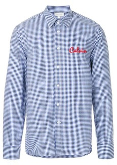 Calvin Klein logo embroidered classic gingham shirt
