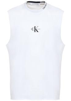 Calvin Klein Logo Embroidered Cotton Tank Top