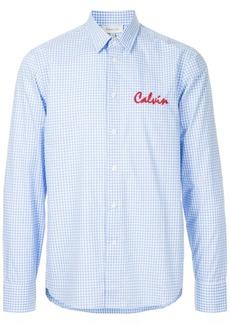 Calvin Klein logo embroidered gingham shirt