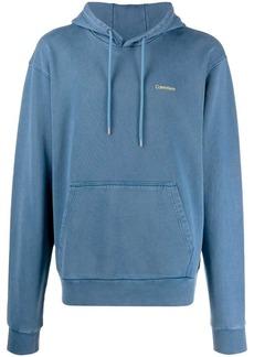Calvin Klein logo embroidered hoodie