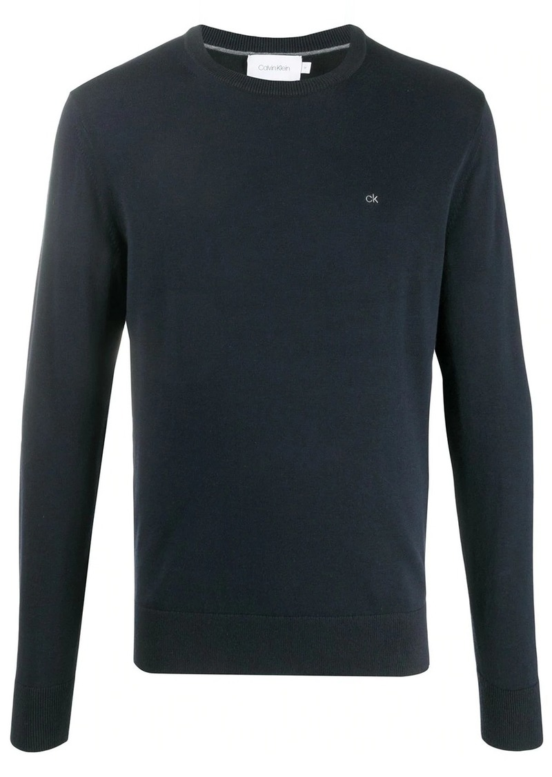Calvin Klein logo embroidered jumper